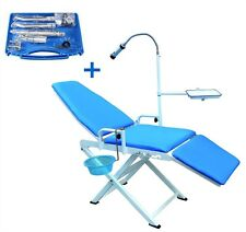 Updated Portable Dental Chair Mobile Unit + A High Low Speed Handpieces 4H Set