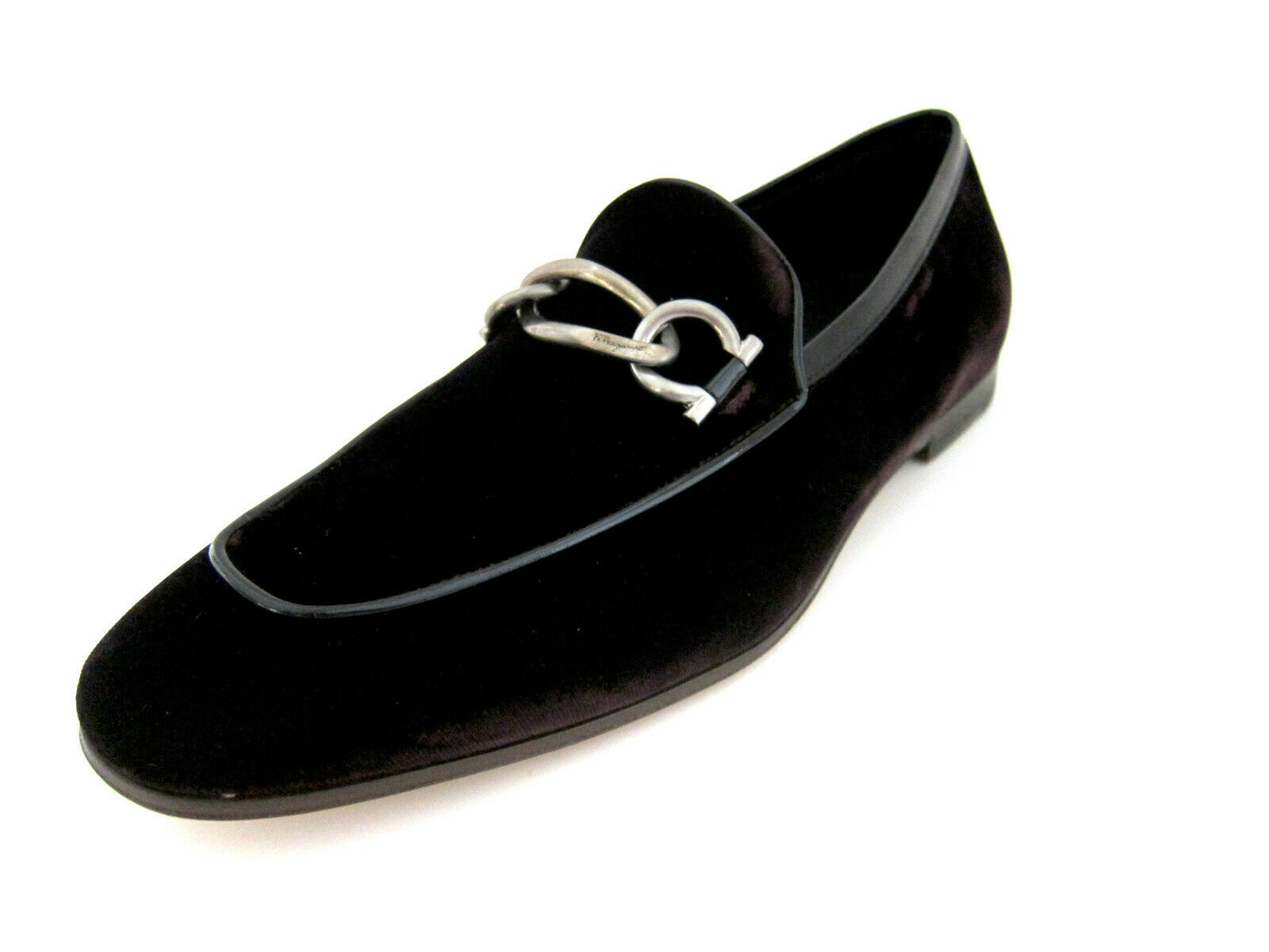 Salvatore Ferragamo Boy 2 mens wine Samt Slippers Schuhe 8.5 E US made in