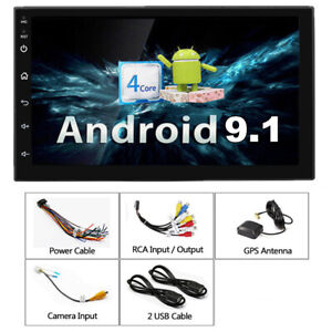 2Din-7-034-1080P-Car-Stereo-Radio-Android-9-1-Quad-core-1GB-16GB-GPS-Mirror-Link