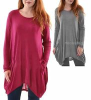 Lagenlook Baggy Slouch Plus Size OSFA  FINE KNIT Jumper Top 8 10 12 14 16 18