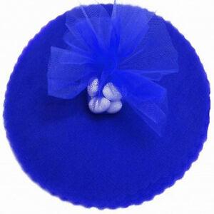 50-Scalloped-Tulle-Circles-9-034-Wedding-Favor-Wrap-Royal-Blue
