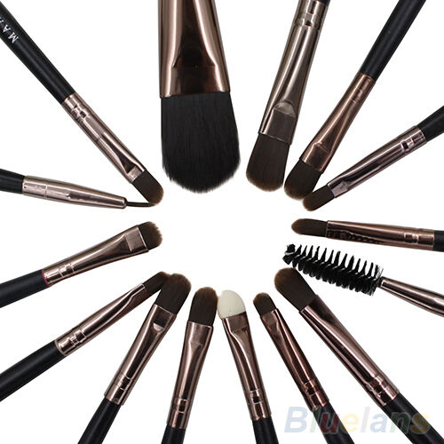 15X Beauty Tool Brushes Set Kit Foundation Eyeshadow Mascara Lip Brush Eyebrow