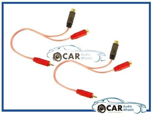 Rca A Rca Splitter Car /& Home Phono Y Divisores 2 Macho 1 hembra del cable de plomo!!!