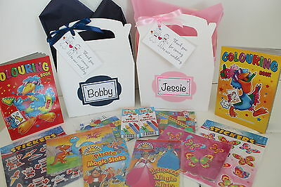Personalised Filled Childrens Wedding Activity Gift Box Pack Book Party Favour