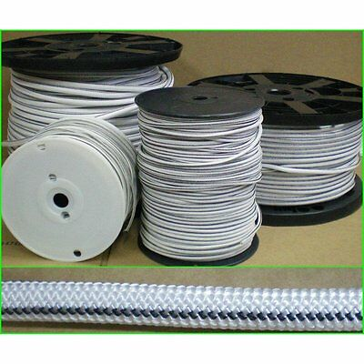 "Bungie Nylon coat rubber rope shock cord 3/16"" x 50' Bungee Stretch Marine Grade"