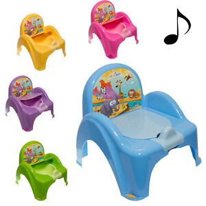 baby mini toilette kindertopf t pfchen toilettentrainer wc deckel klo sitz musik ebay. Black Bedroom Furniture Sets. Home Design Ideas
