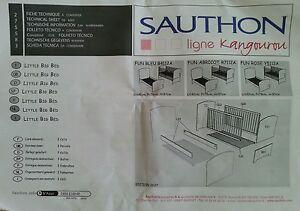 sauthon babybett kinderbett gitterbett gr e 70 x 140 cm ebay. Black Bedroom Furniture Sets. Home Design Ideas