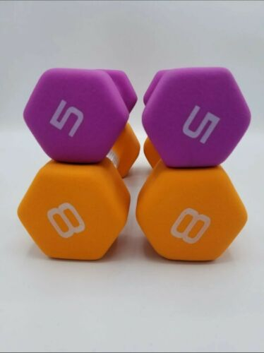 New CAP Neoprene Hand Weights Dumbbells Set of 5lb And 8lb Pairs !!!