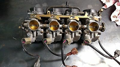 1999 99 Kawasaki Ninja Zx6r Zx 6r Carburetor Set Carb S Fuel Intake California