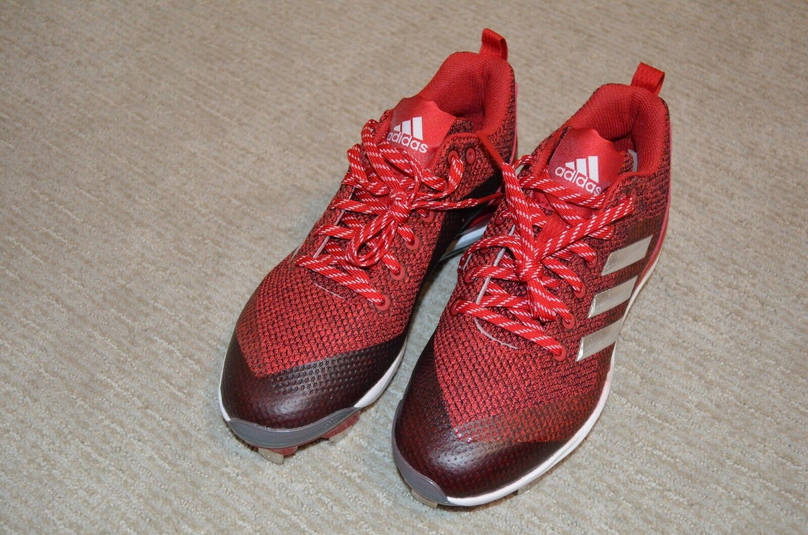 eabd88cfa0780 Adidas Women s Baseball Cleats Alley 5 Low Metal Cleats B39219 Red Size 7.5