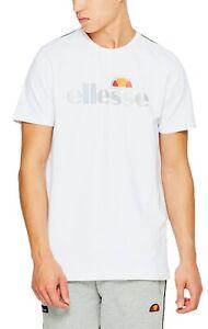 ellesse-Giniti-Reflective-Logo-Crew-Neck-T-Shirt-Gym-Sports-Top-Casual-Tee-White