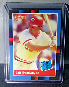1988 Jeff Treadway Donruss Rated Rookie #29 Baseball Card