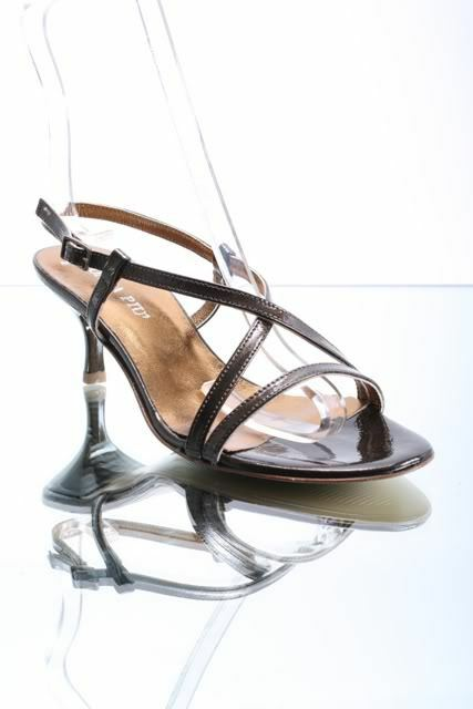 women Piu 1762a Bronze Strappy Leather Heel Sandals 36   US 6