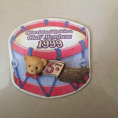 Teddys Cherished Teddies Pin Brosche 1999 Neu & Unbenutzt Rarität Auf Blister Enesco Schnelle WäRmeableitung Cherished