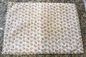 Garnet Hill Pair Standard Hand Stitch Quilted Pillow Shams