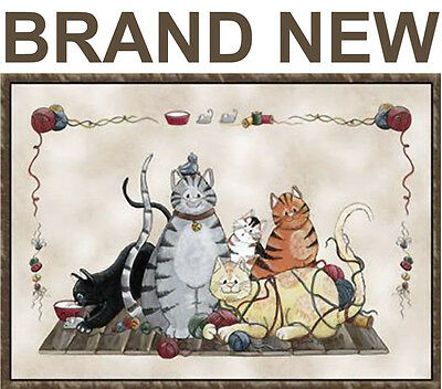 NEW GRANNYS CATS AREA RUG/CARPET,PET KITTENS BED FLOOR/DOOR MAT,DOORMAT