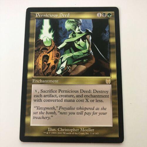 Magic the Gathering MTG Pernicious Deed Apocalypse Rare Nr Mint