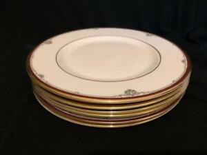 6-X-ROYAL-DOULTON-CAMBRIDGE-RED-SALAD-PLATES-8-2-034-DIAMETER