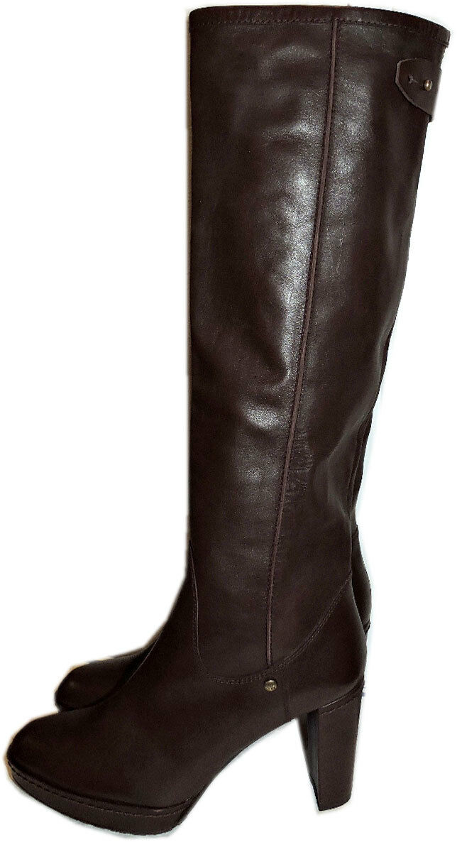 695 Stuart Weitzman Boots Nappa Leather Tall Knee Boots Platform Booties 6.5