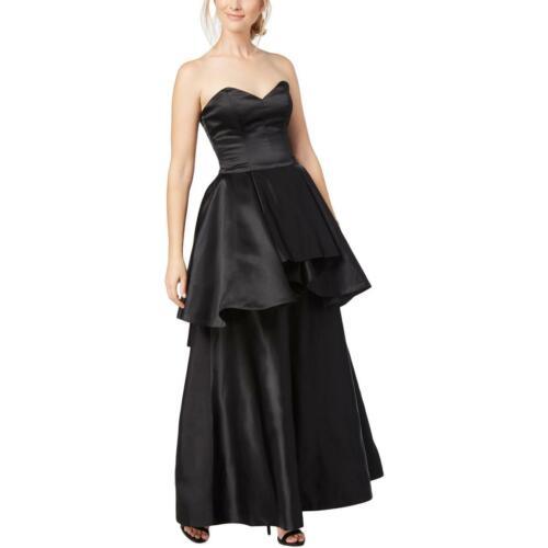 Fame And Partners Womens Peplum Strapless Evening Dress Gown BHFO 1794