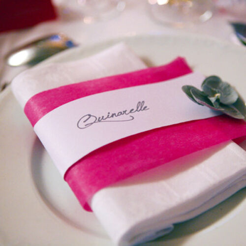 Band Tischband 10cm x 10m bordeaux Dekoband Schleifenband Vlies Geschenkband