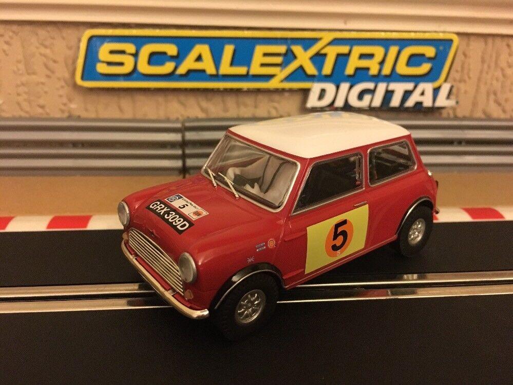 Scalextric Digital Mini Cooper S Rally Rac 1966 G. HILL & M. Boyd No5 Nuevo
