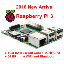Raspberry Pi 3 Model B 1GB 8GB Quad Core 1.2G 64Bit CPU WiFi Bluetooth on board