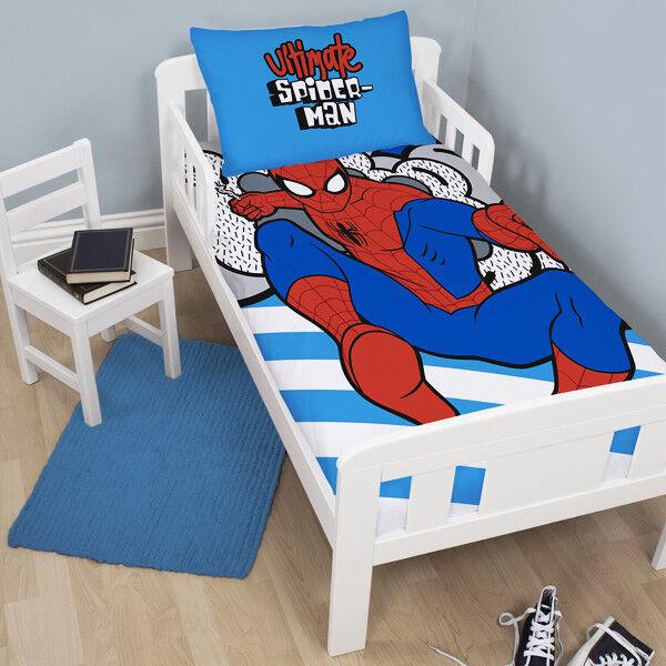 Marvel Spiderman Hang Junior Duvet Cover Set Kids Boys Toddler