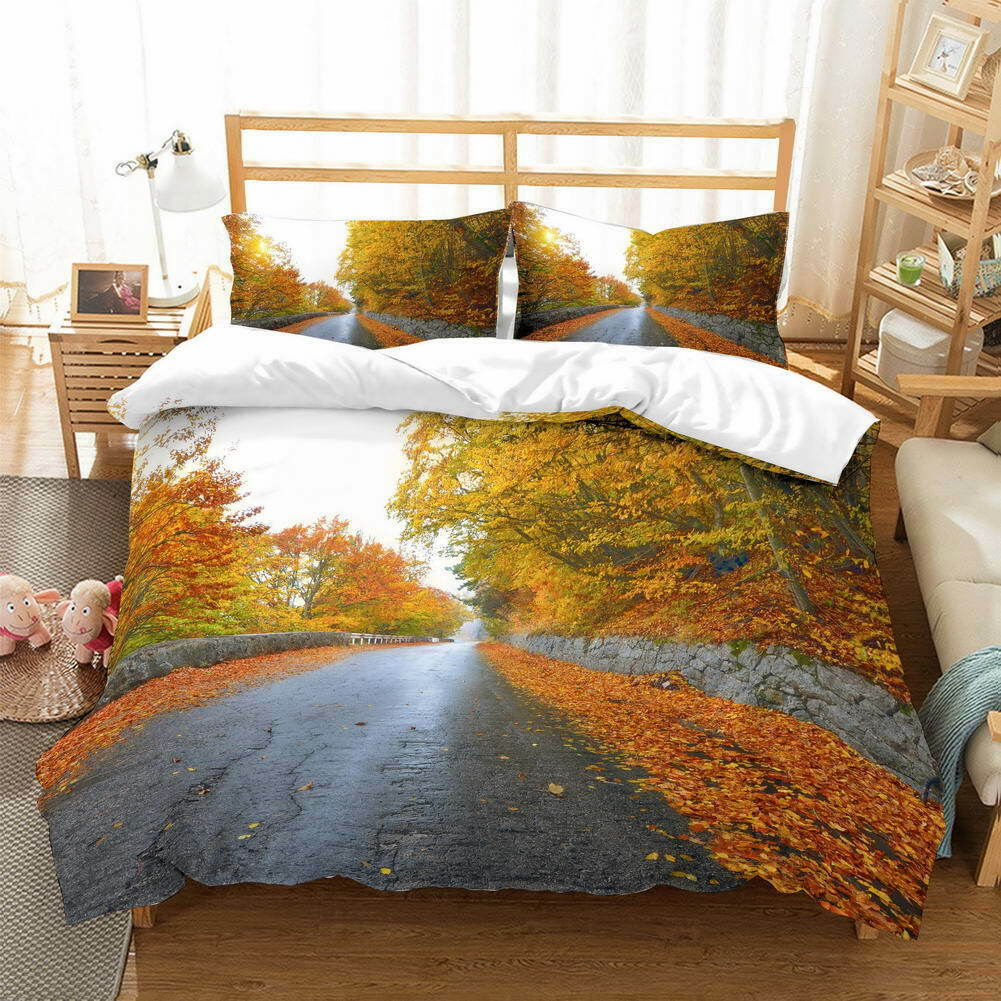 A Roadside Dam 3D Quilt Duvet Doona Cover Set Single Double Queen King Print