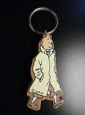 Rare Porte clé  en bois Vilac Tintin
