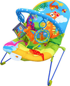 Bebe-Style-Baby-Rocker-Dino-Bouncer-Chair-Music-Vibration-Toys-NEW