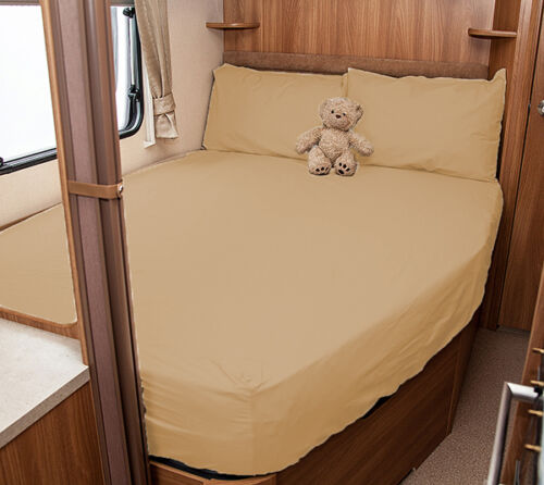 White Coachman VIP 530-4 Caravan Fitted Sheet Ivory Walnut Whip