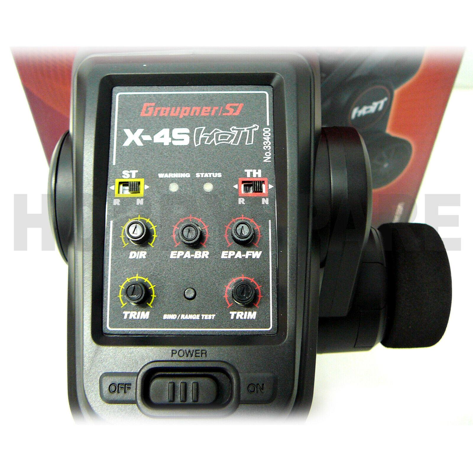 Nuovo grigioPNER X-4S 2.4Ghz RC RC RC auto RADIO w RECEIVER LEFT RIGHT He calienteT 33400 c5b518