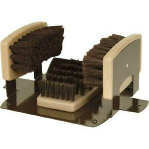 Homestead Boot & Shoe Brush with Scraper for Permanent Mounting