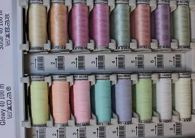 Gutermann Glowy & Solar Sewing Thread Glow in the Dark  Colours in the Sun
