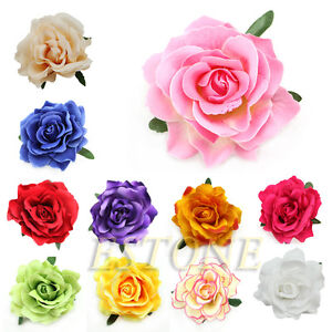 Bridal Rose Flower Hair Clip Hairpin Brooch Wedding Bridesmaid Party Accessories