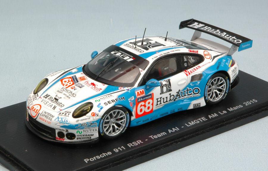 Porsche 911 Rsr  68 35th Lm 2015 Han Chen Chen   Vannelet   Parisy 1 43 Model