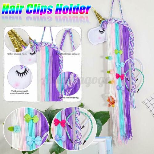 1x Unicorn Hair Bow Holder Wall Organizer Clips Storage Headband Rack Fo