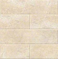 "BEIGE CREMA Classic Subway Backsplash Tile Ceramic 4"" X 16"" KITCHEN BATHROOM"