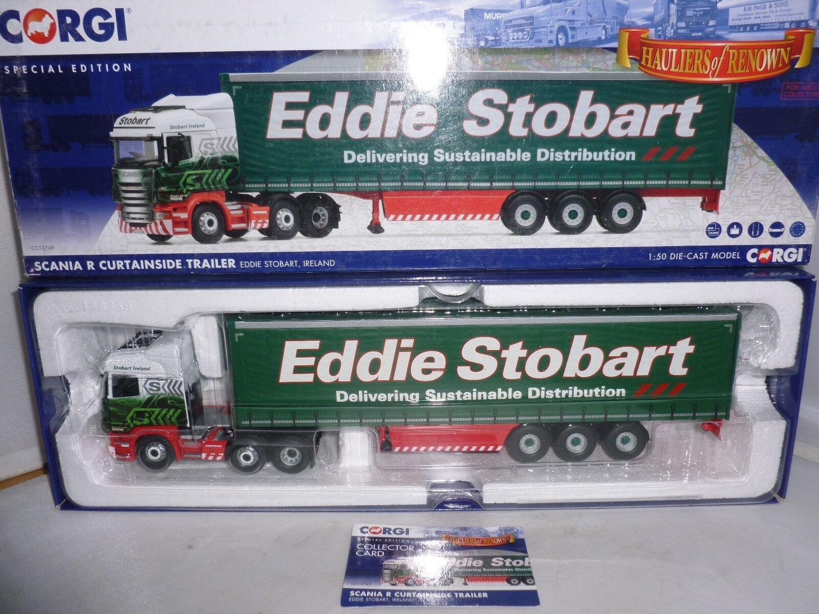Corgi Diecast Eddie Eddie Eddie Stobart CC13749 Scania R Curtainside remolque 3c82f7