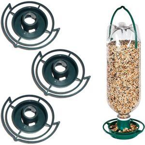 3-PACK-HANGING-SODA-BOTTLE-BIRD-FEEDER-KIT-Wild-Pop-Seed-Platform-Catcher-Garden