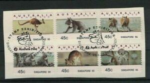AD236-Australia-1995-Koalas-amp-Roos-Counter-Printed-SINGAPORE-95-CTO