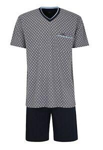 Götzburg Herren Schlafanzug Pyjama Baumwolle Shorty 451906 825