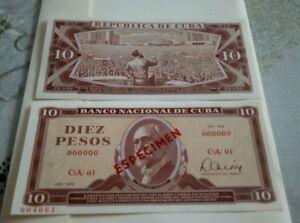 ...10 Pesos...000000...especimen Cadeau IdéAl Pour Toutes Les Occasions