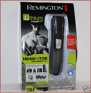 remington lithium head to toe cordless groomer beard head body shaver trimmer ebay. Black Bedroom Furniture Sets. Home Design Ideas