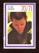 1970-71 ESSO POWER PLAYERS NHL #12 KEN SCHINKEL EX+ PENGUINS UNUSED STAMP