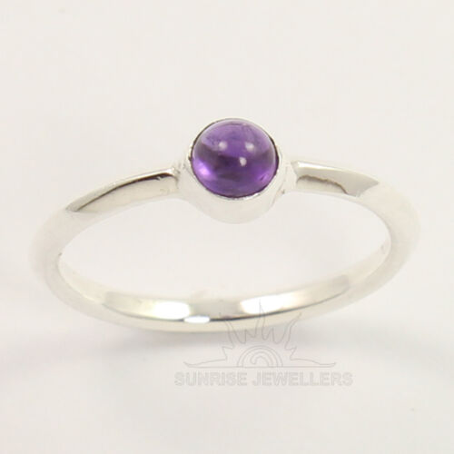 Little Beautiful Ring Choose Size 925 Sterling Silver Natural AMETHYST Gemstone