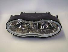 Dip & Main Full Light black oval clear lens Headlight UK E-mark Motorcycle cafe