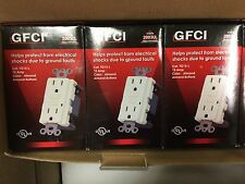 GFI GFCI OUTLET 15 AMP 120 VOLT LIGHT ALMOND ONLY  10 PACK