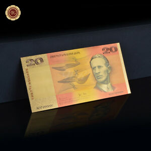 WR-Old-Australian-1985-20-Twenty-Dollar-Note-Gold-Foil-Colored-Banknote-Collect
